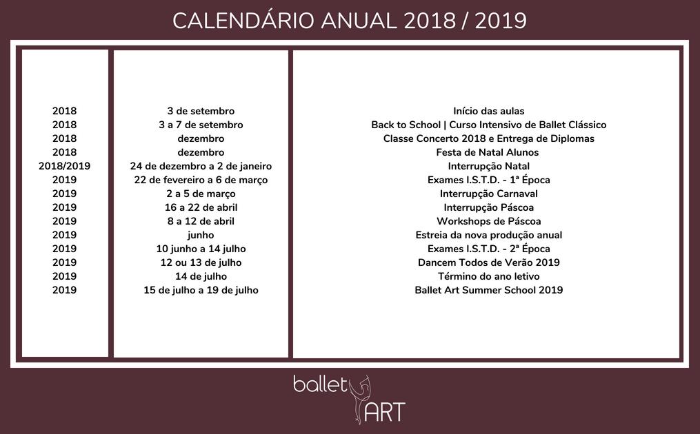 calendário anual 2018 _ 2019